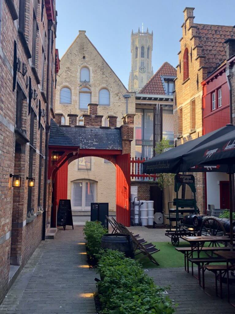 Picturesque patio dining in Belgium