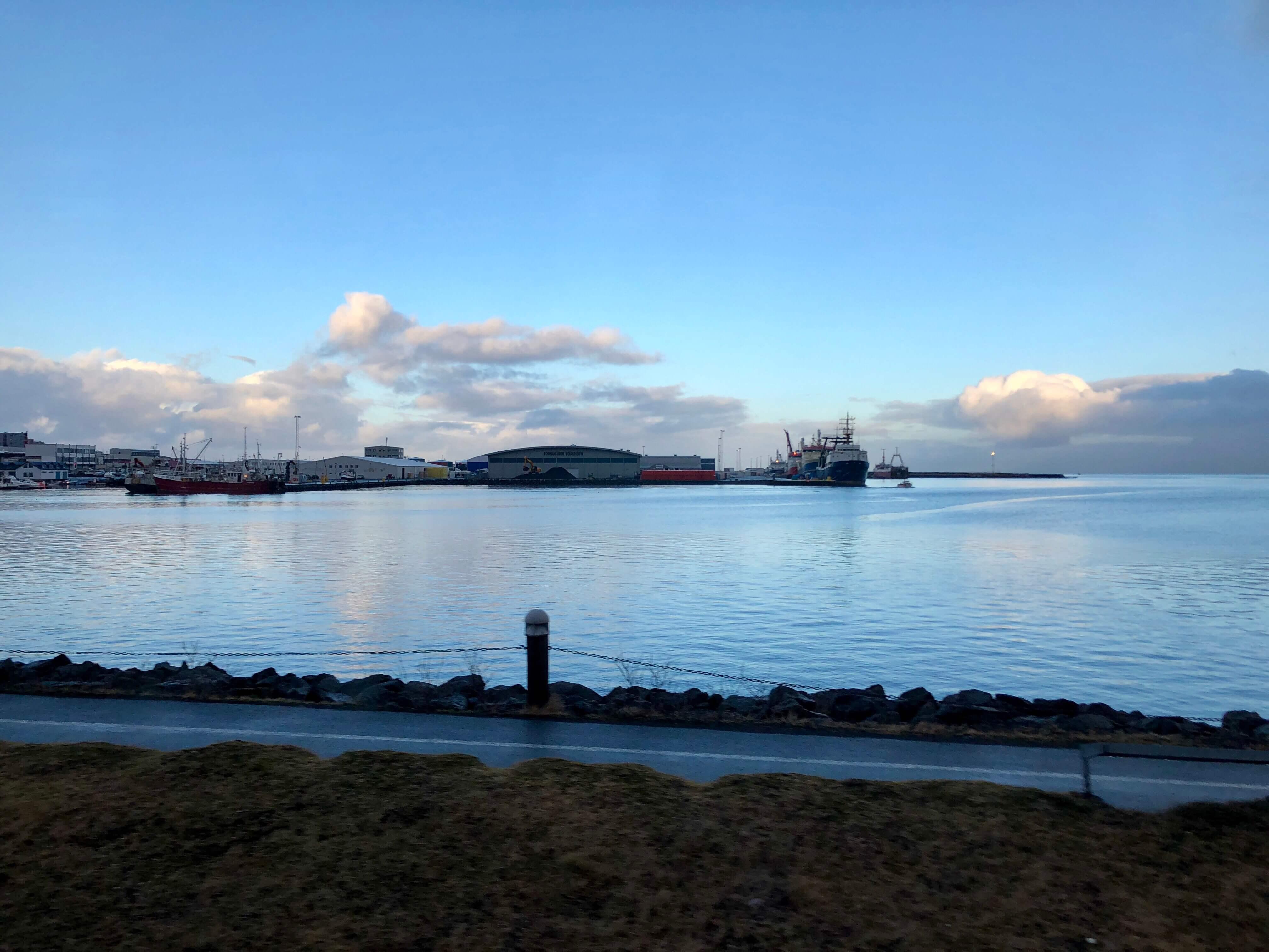Reykjavík Iceland Harbor in the early morning