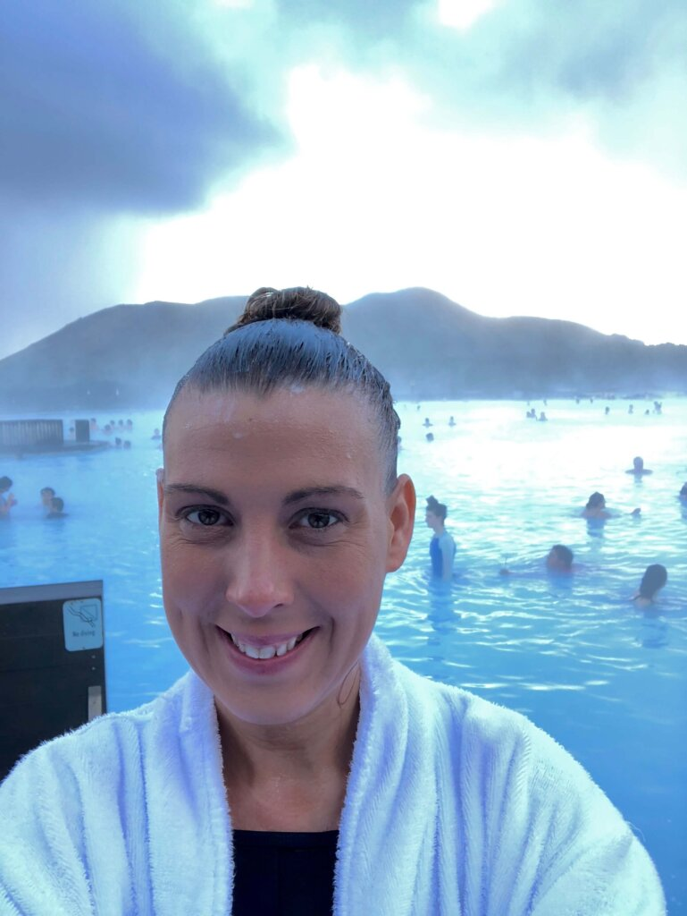 Standing in the Blue Lagoon hair care tips