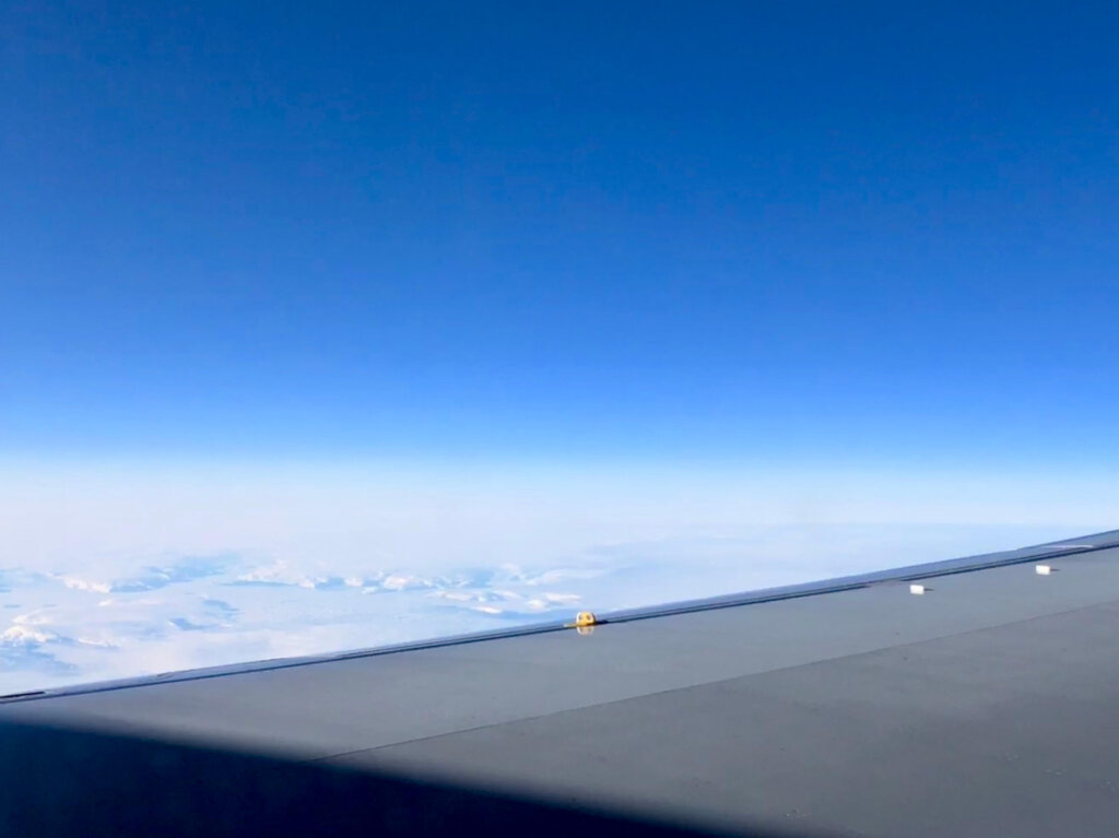 An over-the-wing view of Greenland Sea