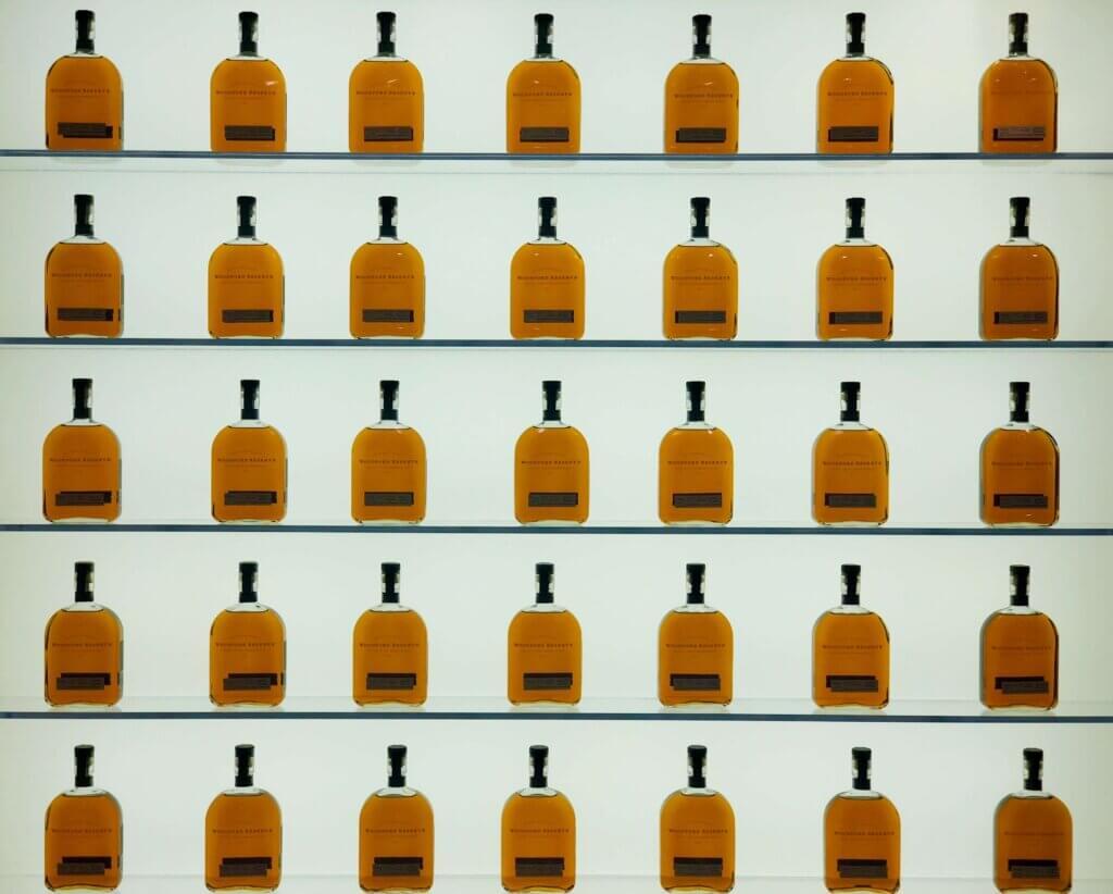 woodford reserve bourbon bottles