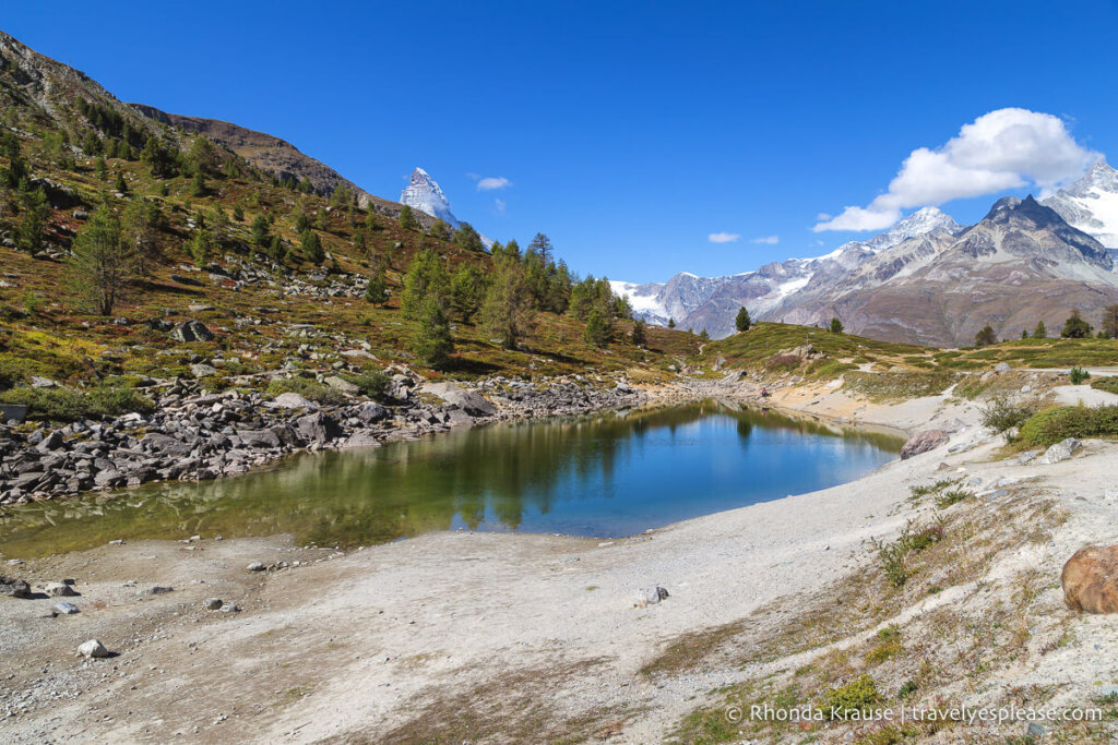 Mountain View from the 5 Lakes Trail in Zermatt