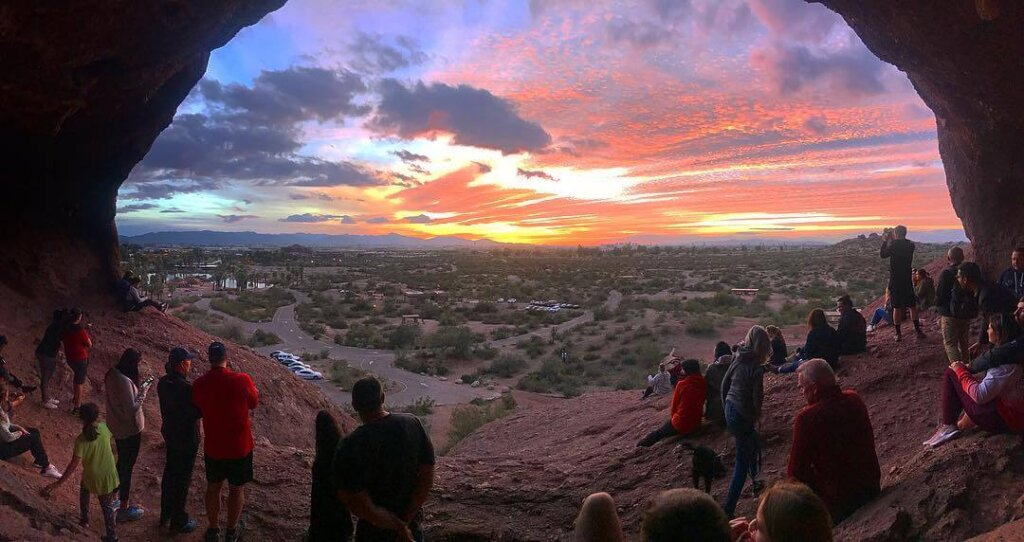 View from Hole in the Rock, Phoenix Arizona.