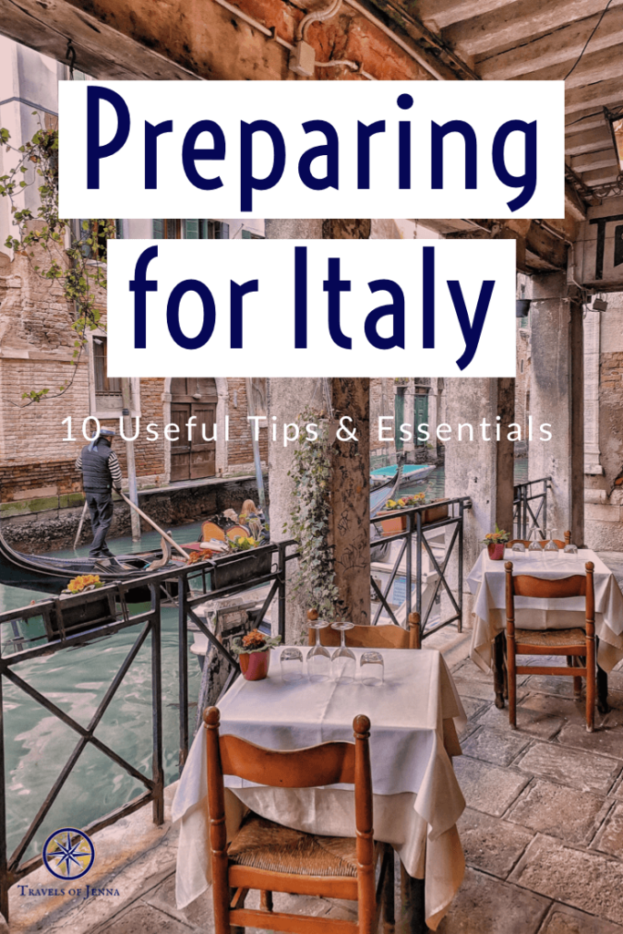 Tables at a restaurant in Italy. Article including 10 to prepare for an Italy vacation
