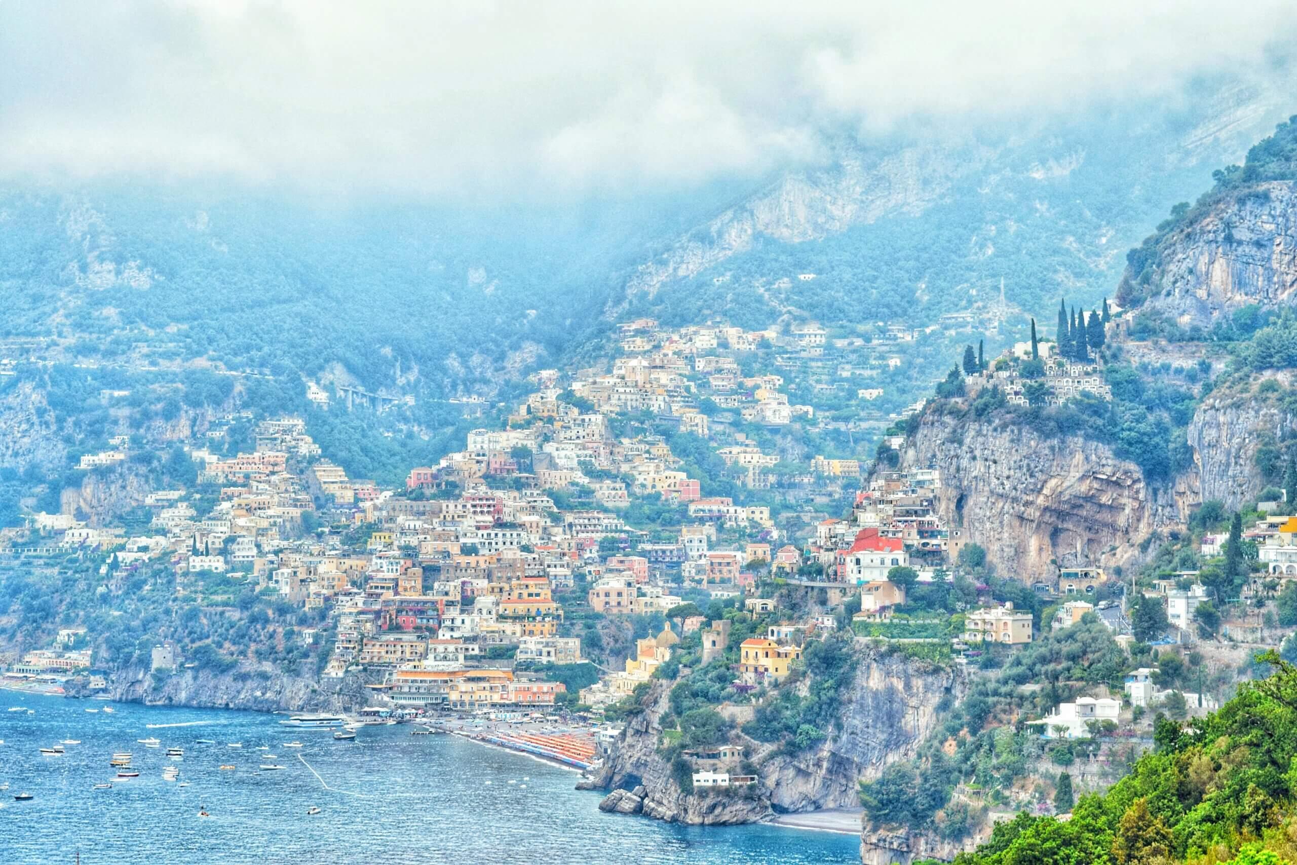 The colorful Positano coastline